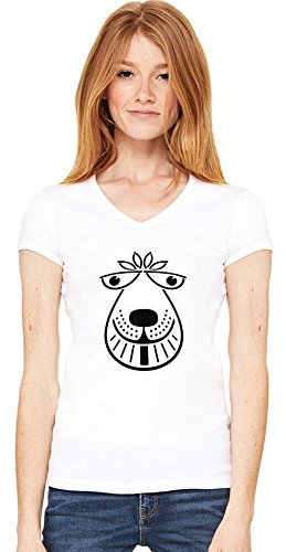 Space Hopper Womens V-neck T-shirt Small