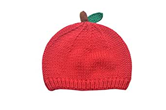 ACVIP Baby Girls Red Apple Design Knit Beanie Cap