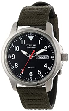 "Citizen Men's BM8180-03E ""Eco-Drive"" Canvas Strap Watch"