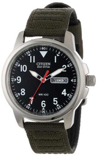 Citizen Men'S Bm8180-03E Eco-Drive Canvas Strap Watch