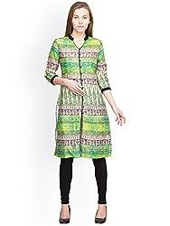 Panit Women's Cotton Kurta (PANI011_Green_X-Large)