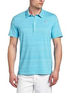 Puma Golf NA Men's Barcode Stripe Polo Tee, Blue Atoll, XX-Large