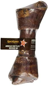 Ranch Rewards Beef Flavored-Basted Rawhide Bone Dog Treat, 7-8-Inch