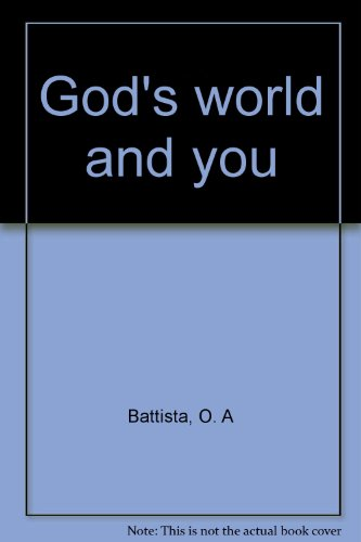 Image for God's world and you