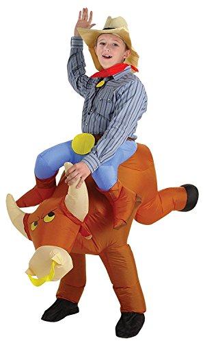 Bull Rider Kids Inflatable Costume (Child Rideahorse Costume)
