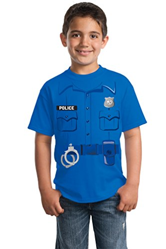 Police Costume Tee | Easy Halloween Costume Cop, Police Officer Youth T-shirt