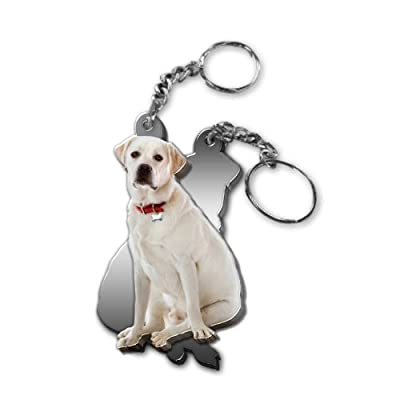 Got Yo Gifts Yellow Lab Mirrored Acrylic Keychain