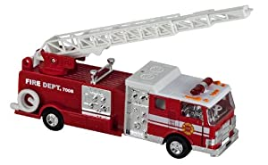 Lights & Sounds Fire Truck Pullback - Red