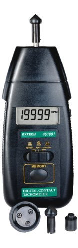 Extech 461891 Contact Tachometer For Fast And Accurate Rpm And Surface Speed Measurements