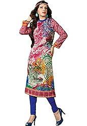 JCM Krishriyaa Women's Pink Cotton Straight Kurti with XL Size
