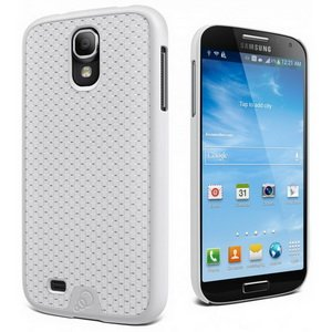 Cygnett CY1198CXURB UrbanShield PC/CF Case for Galaxy S4 - 1 Pack - Retail Packaging - White Carbon Fiber