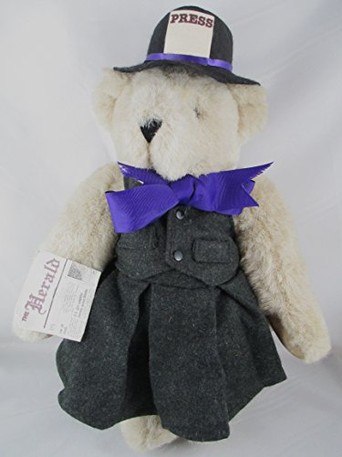 """1994 Vermont Beige Teddy Bear 16"""" News Reporter Fully Jointed - 1"""
