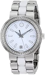 Movado Women's 0606624 Cerena Stainless Steel Watch with Ceramic and Stainless Steel Bracelet