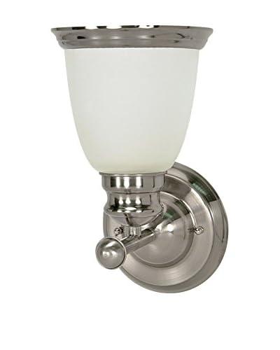Nuvo Lighting Palladium 1-Light CFL Vanity Light, Smoked Nickel