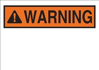 "Brady 25975 Plastic, 7"" X 10"" Warning Sign Legend, ""(Blank ..."
