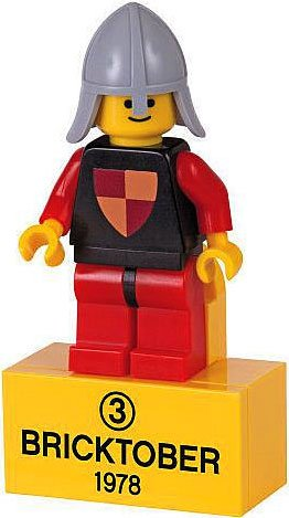LEGO Exclusive Bricktober 1978 Retro Mini Figure #3 Knight Bagged - 1