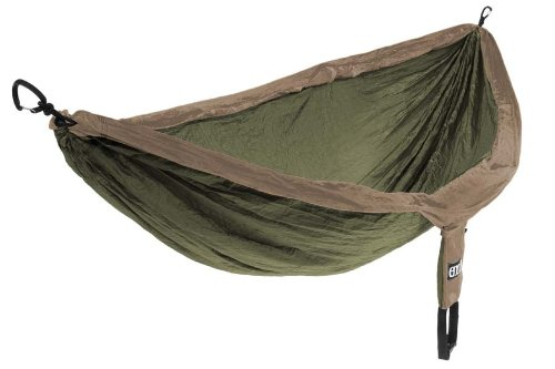 Eagles Nest Outfitters ENO DoubleNest Hammock Khaki/Olive with Atlas Straps