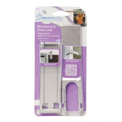 Dreambaby Microwave & Oven Lock - Silver - 2 Count