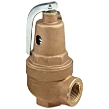 "Apollo Valve 10-600 Series Bronze Safety Relief Valve, ASME Hot Water, 125 psi Set Pressure, 1"" NPT Female"
