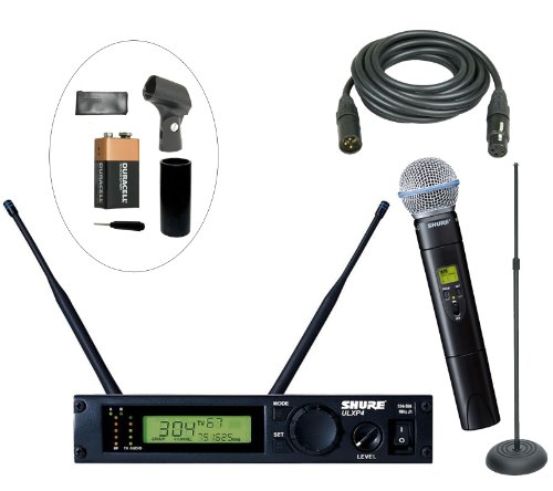 Shure Ulxp24/58 M1 Wireless Handheld System Using The Popular Sm-58 Handheld Capsule For Live Performance And Dj With Added Performance Accessories