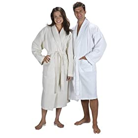 White Turkish bath robe