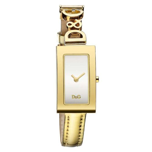 D&G Dolce&Gabbana DW0265 - Reloj analógico de mujer de cuarzo con correa de piel beige