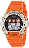 Casio Men's W-214H-4AVCF Chronograph Orange Watch