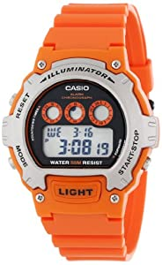 Casio Unisex W214-4AVCF Classic Orange Watch