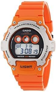 Casio Unisex W214-4AVCF Classic Orange Watch