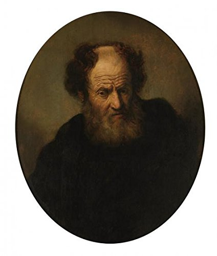 High Quality Polyster Canvas ,the High Resolution Art Decorative Canvas Prints Of Oil Painting 'Rembrandt,Old Man,1609-1669', 16x19 Inch / 41x48 Cm Is Best For Nursery Gallery Art And Home Gallery Art And Gifts
