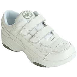 Dr Zen Sport 2 Men\'s Therapeutic Diabetic Extra Depth Shoe: White 12 X-Wide (2E) Velcro