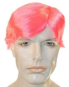 Mens Clown Wig Straight Style - Hot Pink