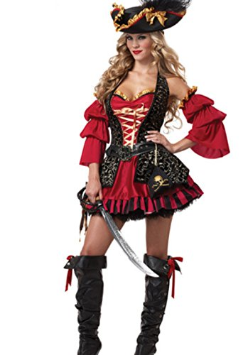 DoLoveY Women's Pirate Costumes Halloween Party Outfits