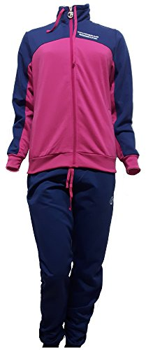 tuta felpata donna full zip NAZARENO GABRIELLI sporting new collection art.SD211 (S, blu)