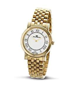 Philip Ladies Slim Analogue Watch R8253193545 with Quartz Movement, White Dial and Stainless Steel Case