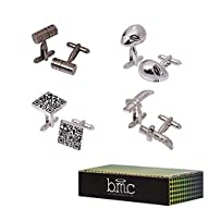 BMC Mens 4 pc Alloy Metal Assorted Sh…