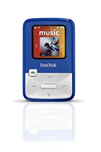SanDisk Sansa Clip Zip 4GB MP3 Player, Blue With Full-Color Display, MicroSDHC Card Slot and Stopwatch- SDMX22-004G-A57B