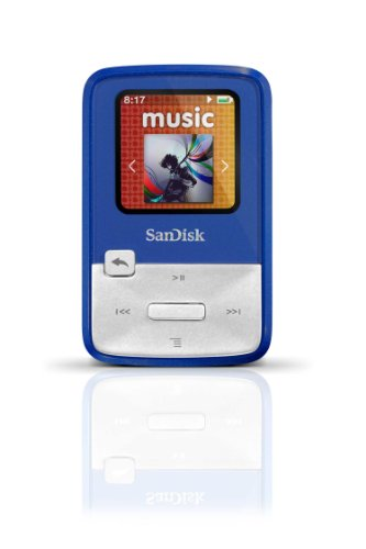 SanDisk Sansa Clip Zip 4GB MP3 Player (Blue)