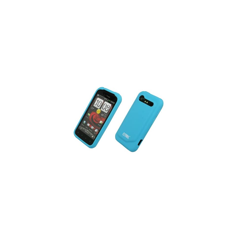 Blue Silicone Skin Case Cover for Verizon HTC Droid Incredible 2 6350