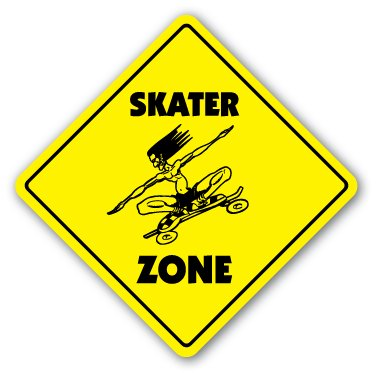 Buy Low Price ZANYSIGNS SKATER ZONE – Sign – xing skateboard skateboarder gift Figure (B001A2WJCY)