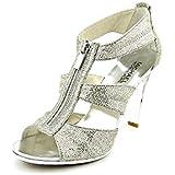 Michael Kors Berkley T Strap Open Toe Textile Dress Sandals Shoes