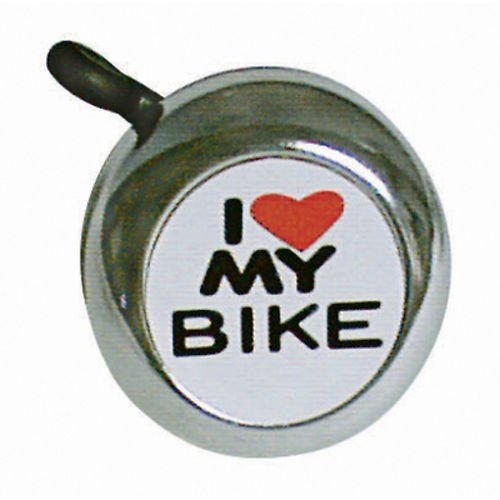 "Sunlite ""I Love My Bike"" Bicycle Bell Chrome"