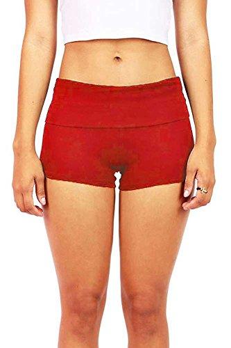 Red Yoga Mini Gym Shorts