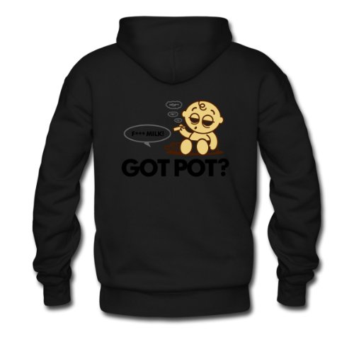 Spreadshirt, Got Pot 3 (dd)++, Men's Hoodie, black, S
