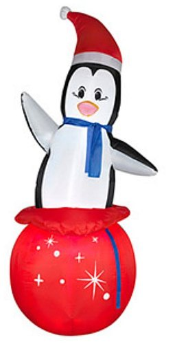 7 Ft Inflatable Christmas Holiday Penguin Lights Up