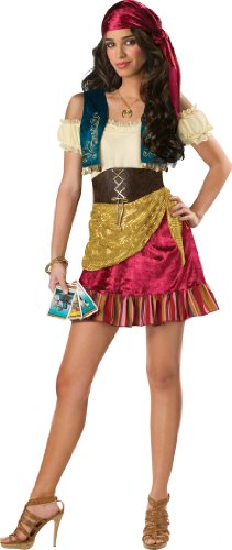 InCharacter Costumes Teen Gypsy Costume Tan/Blue/Gold/Burgundy, Small