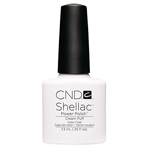 Creative Nail Design Shellac UV Color Coat Cream Puff .25oz