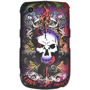 Rubberized Protector Case Cover for BlackBerry Curve 8520 / 3G 9300 - Love Hurts