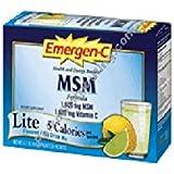 Emergen-C MSM Lite, Lemon Lime 30 packets