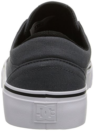 DC Men's Trase TX Skate Shoe, Grey/Grey/White, 10.5 M US